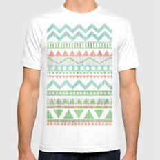 Pattern No. 1 SMALL White Mens Fitted Tee