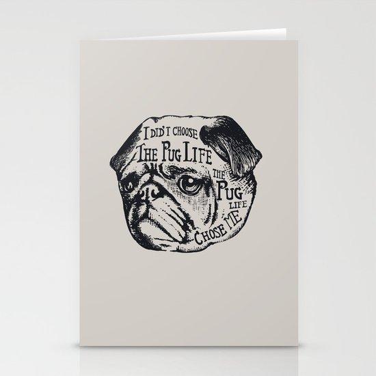 Pug Life Stationery Card
