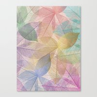 Colored Leaf Pattern Canvas Print