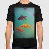 Three Fish More Fish Mens Fitted Tee Tri-Black SMALL