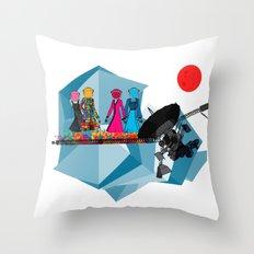 Space Girls  Throw Pillow