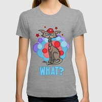 Cool Cat in a Red Hat Womens Fitted Tee Tri-Grey SMALL