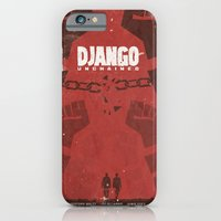 iPhone & iPod Case featuring Django Unchained -  Quentin Tarantino Minimal Movie Poster by Stefanoreves