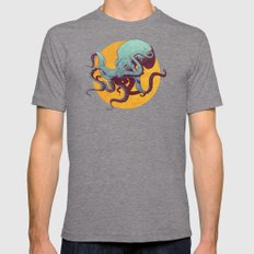 Octopus Mens Fitted Tee Tri-Grey SMALL