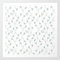 Tumbling Rosebuds Art Print