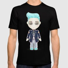 TOP from Bigbang Black SMALL Mens Fitted Tee