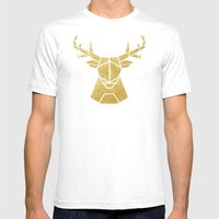 Geometry Of A Deer Mens Fitted Tee White SMALL