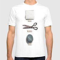 Paper, Scissors, Stone Mens Fitted Tee White SMALL