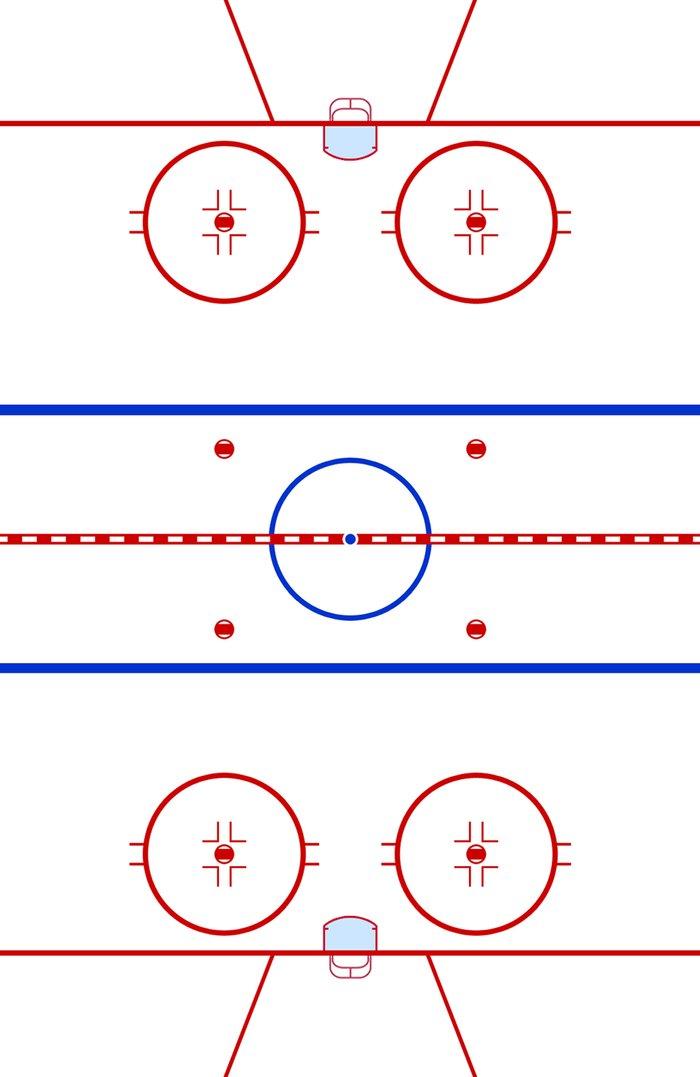 Ice Hockey Rink Diagram Art Print By Wayward Tees