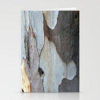 Peeling Bark Of A Eucalyptus Gum Tree Stationery Cards