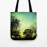 Orange Green Blue Sky Tote Bag