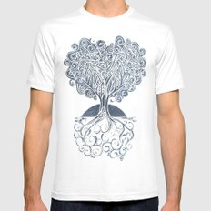 Grounded Tree SMALL Mens Fitted Tee White