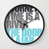 The Door is Ajar Wall Clock