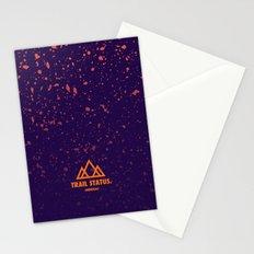 Trail Status / Purple Stationery Cards