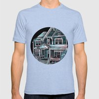 Home, Bright Home Mens Fitted Tee Tri-Blue SMALL