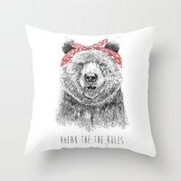 Break the rules Throw Pillow
