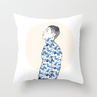 Inked #3 Throw Pillow