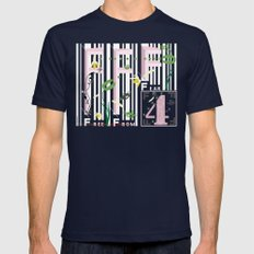Four Freedoms Barcode Mens Fitted Tee Navy SMALL