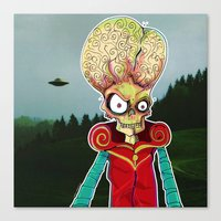 MARS ATTACKS LEADER Canvas Print