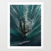 Godzilla - Sea Art Print