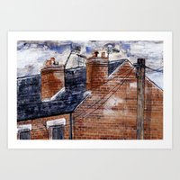 British House Art Print