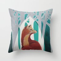 Fox Cathedral Throw Pillow