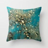 Bold Blue Dandy Sparkles Throw Pillow