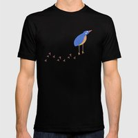 Bird leaving a trail Mens Fitted Tee Black SMALL
