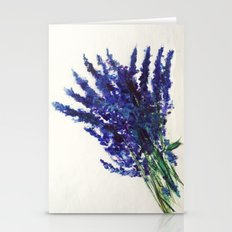 Fresh Cut Lavender Watercolors On Paper Stationery Cards