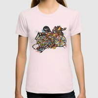 FIX TRIP ~ BLACK Womens Fitted Tee Light Pink SMALL