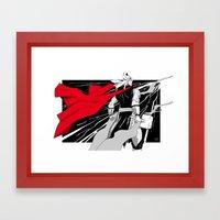 The God of thunder Framed Art Print