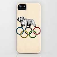 iPhone Cases featuring British Bulldog - Olympics London 2012 by Tamara Rogers