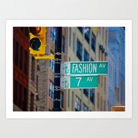 Fashion Avenue  Art Print