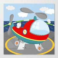 HELICOPTER (AERIAL VEHIC… Canvas Print