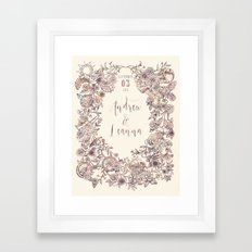 Floral Wreath Collage Framed Art Print