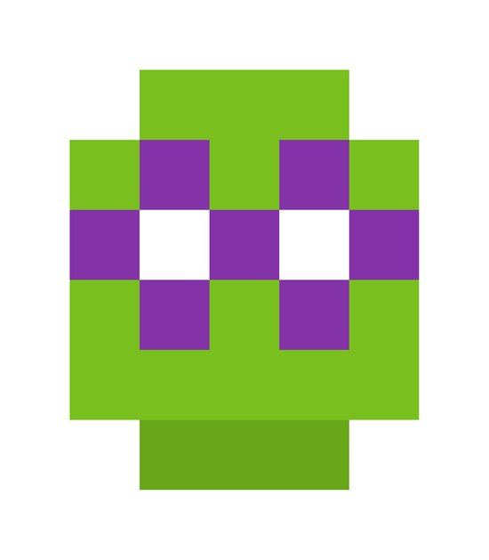 hero pixel green purple Art Print