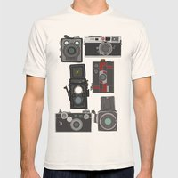 Cameras Mens Fitted Tee Natural SMALL
