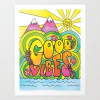 Good Vibes Art Print