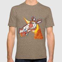 Basquiat Skull Unicorn Mens Fitted Tee Tri-Coffee SMALL