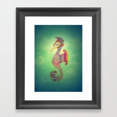 Seahorse Lady Framed Art Print