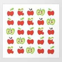 Apple Lover Art Print