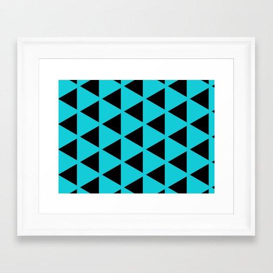 Sleyer Black on Blue Pattern Framed Art Print