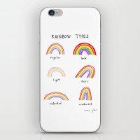 rainbow types iPhone & iPod Skin