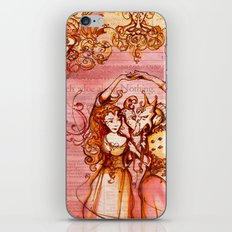 Much Ado About Nothing - Masquerade - Shakespeare Folio Illustration iPhone & iPod Skin