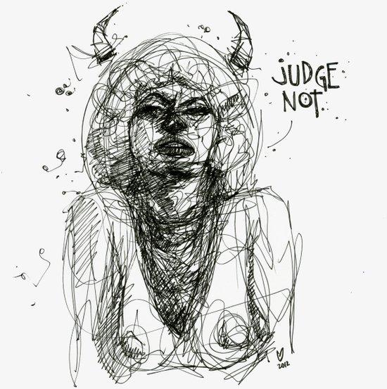 Judge Not Art Print