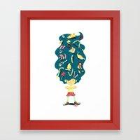 I Hate Combs! Framed Art Print