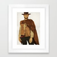 CLINT EASTWOOD - WESTERN  Framed Art Print