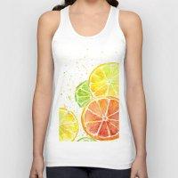 Fruit Watercolor Unisex Tank Top