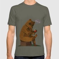 Mrs. Bear Mens Fitted Tee Lieutenant SMALL