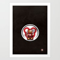 Super Bears - the Invincible One Art Print